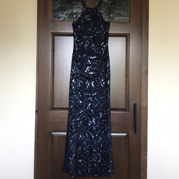 Night Way Collections Dresses & Skirts - Navy Blue evening gown